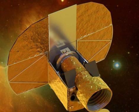 Recreación artística del satélite 'Cheops'. | ESA