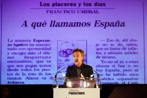 El actor Carlos Hipólito ha recitado uno de sus textos. | Sergio Enríquez