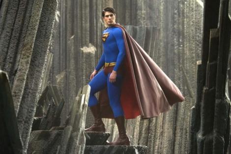 El periodista Clark Kent convertido en Superman.