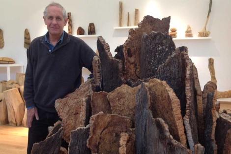 David Nash en su galería natural. | C. F. (Vea más imágenes aquí)