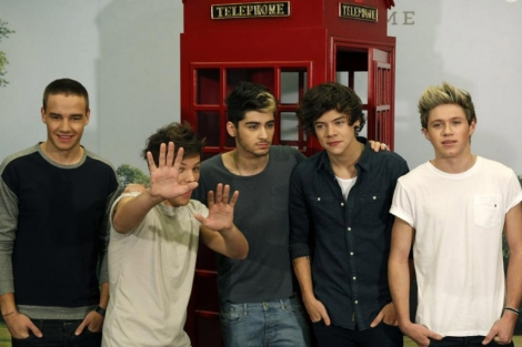 Los cinco componentes de One Direction, este miércoles en Madrid. | Efe