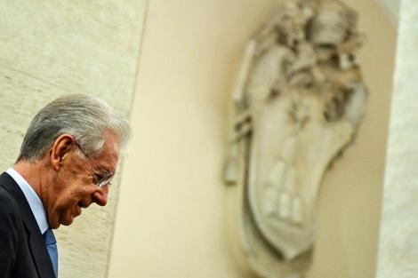 El primer ministro Mario Monti este miércoles en Roma. | Afp