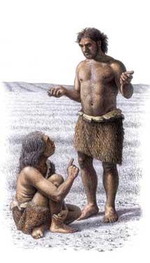 Recración del aspecto de dos neandertales. | Science