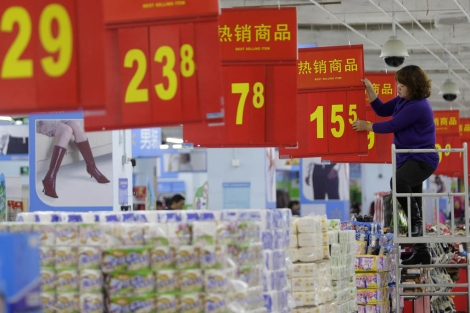 Un supermercado en China. | Reuters