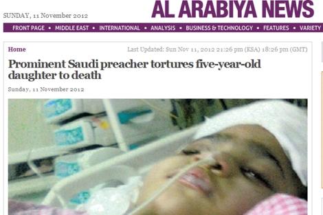 Imagen de la pequeña en el hospital. | 'Foto: Al Arabiya'