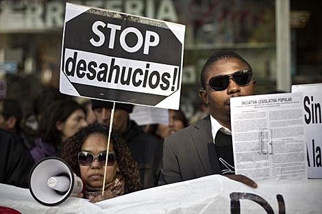 Protesta contra los desahucios el pasado día 12. | A. Di Lolli