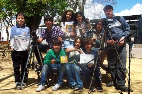 Los niños participantes en el proyecto de '¿De verdad piensas eso de mí?'. | José E. Martínez