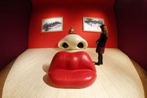 Una de las salas de la muestra de Dalí del Pompidou. | Reuters