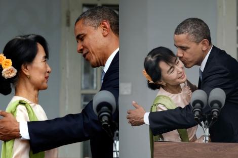 Obama en su visita histórica a Birmania en apoyo a las reformas democráticas. | Efe | Afp