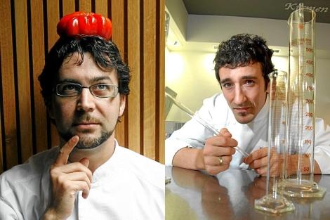 Quique Dacosta (dcha) y Eneko Atxa (izda).| Begoña Rivas/Patxi Corral