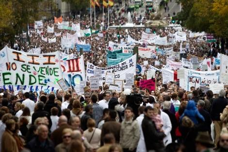 Manifestación de profesionales de la Sanidad, en Madrid, contra la privatización. | Alberto di Lolli