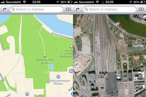 Mapas de iOS 6 (i) convierte una estación de tren en Helsinki en un parque.  http://theamazingios6maps.tumblr.com/