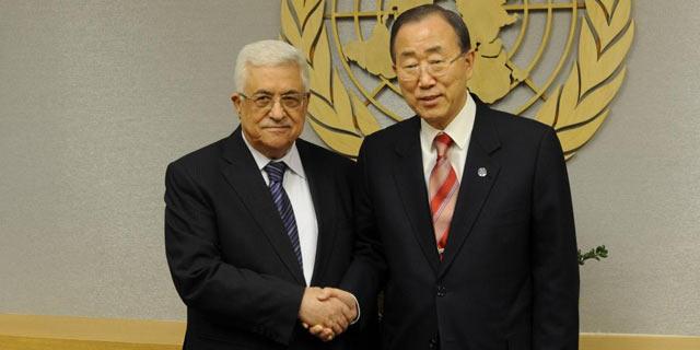 Abu Mazen y Ban Ki-Moon en la sede de Naciones Unidas. | Efe