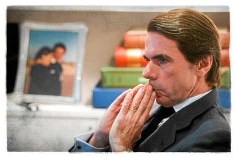 José Maria Aznar, durante la entrevista, en la sede de la fundación FAES. | José Aymá
