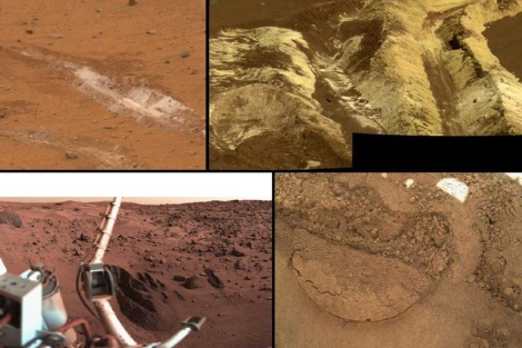 Mosaico de los distintos tipos de suelo en los que ha estado 'Curiosity'.| NASA
