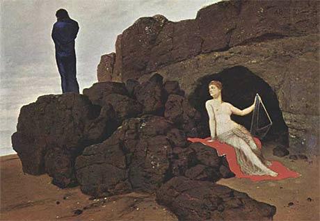 'Calipso y Odisea', de Arnold Böcklin.