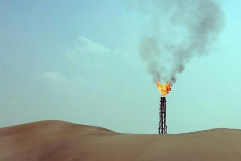 Una instalación de gas en el desierto de Catar. | AFP