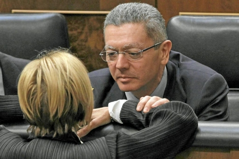 El ministro de Justicia, Alberto Ruiz Gallardn, artfice del cambio legislativo. | Efe