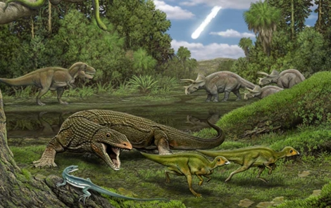Recreación artística del hábitat de estas especies. | Carl Buell
