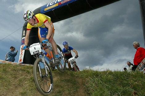 El ciclista Iñaki Lejarreta durante una prueba de montaña. | E.M.
