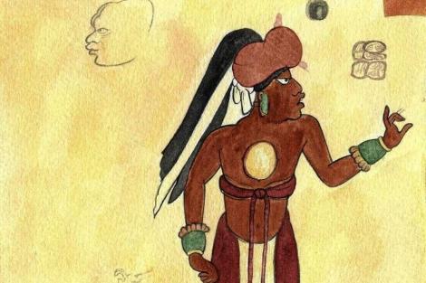 Imagen de un calendario maya hallado en la selva de Guatemala. | National Geographic