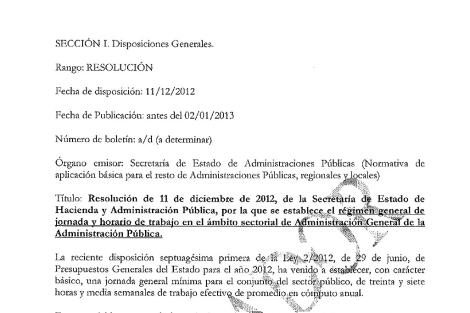 Imagen del borrador del documento cuya existencia niega Hacienda. | EL MUNDO