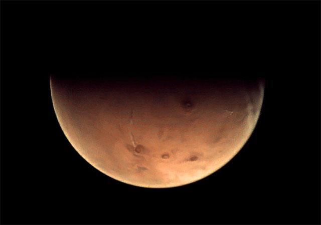 La imagen de Marte captada por la sonda Mars Express. | ESA