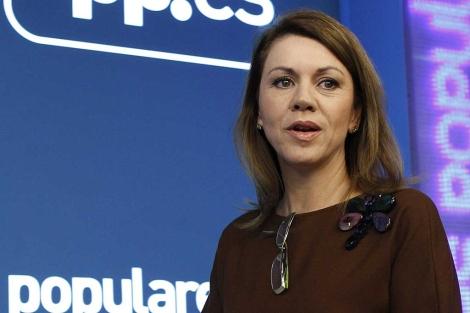 La secretaria general del PP, María Dolores de Cospedal. | Foto: Efe / Sergio Barrenechea.