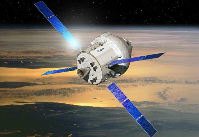Recreación artística del módulo europeo de la nave Orion. | ESA