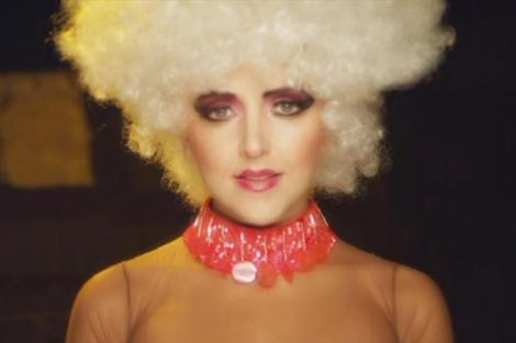 Amy Martin, en uno de sus videoclips.  