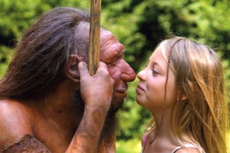 Reconstrución de un neandertal de un museo alemán. | Neanderthal Museum