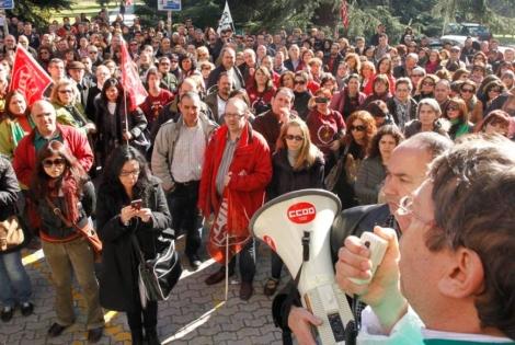 Huelga del personal investigador y de administracion en la Complutense. | S. G.