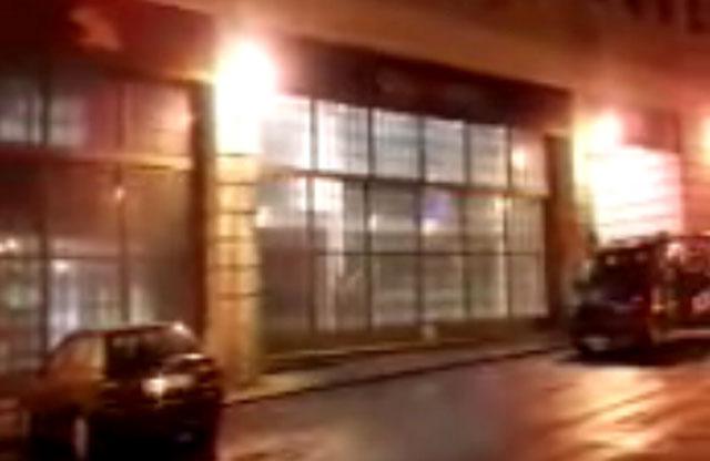 Imagen de la sede de Bankia en Celenque, tras el desalojo.