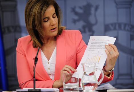 La ministra de Empleo, Fátima Báñez. | Bernardo Díaz