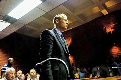 El atleta comparece ante el Tribunal de la Magistratura de Pretoria.| Efe