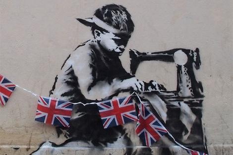 El grafiti 'robado' de Banksy.