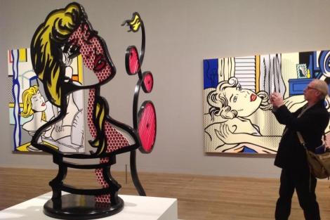 'Mujer con luz de sol', en la exposición de Lichtenstein en Londres. | C. Fresneda