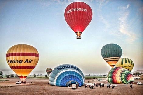 Imagen de la explanada de donde parten los globos aeroestáticos. | Efe