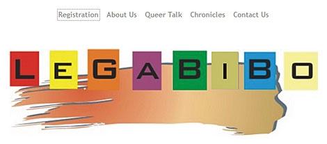 Pantalla de la página web Legabibo, a favor de los derechos de los gays en Botsuana..