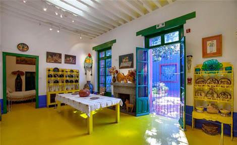 La casa azul, casa-museo de Frida Khalo.