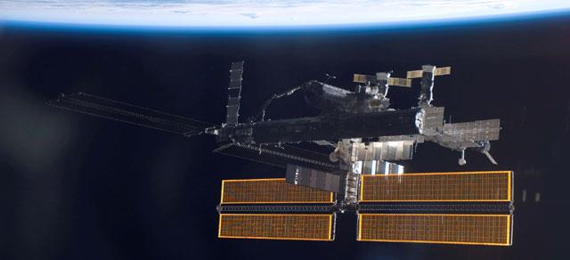 Imagen panorámica de la Estación Espacial Internacional. | AFP