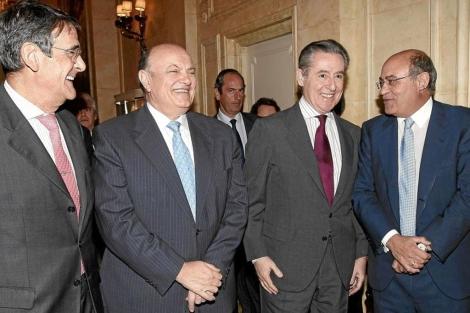 Miguel Blesa y Gerardo Díaz Ferrán (Segundo y primero por la derecha). | Bernardo Rodríguez