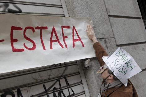 Protesas contra Bankia por el cobro de las preferentes.