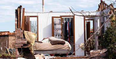 Una casa afectada por el tornado de Oklahoma. | Reuters