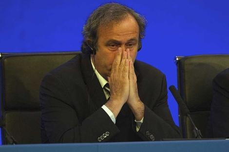 El presidente de la UEFA, Michael Platini.   Foto: Efe / Tom Hevezi.