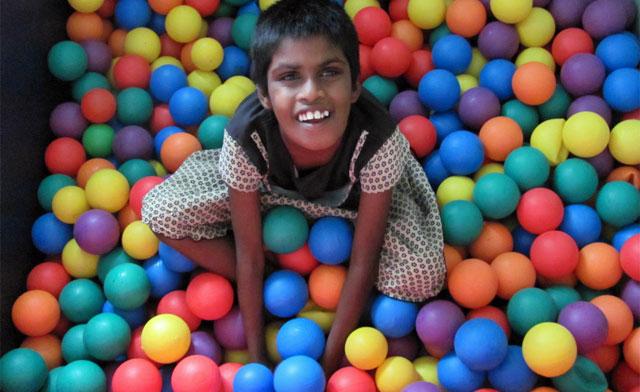 Imagen de un niño con discapacidad