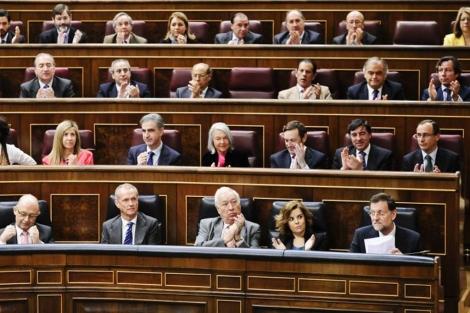 Bancada 'popular' en el Congreso de los Diputados. | Gonzalo Arroyo