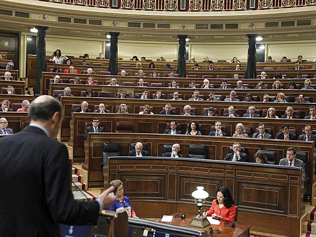 Rubalcaba se dirige este miércoles a Rajoy en la sesión de control al Gobierno. | José Aymá