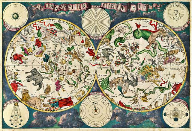 Mapa celestial del cartógrafo Frederich Wit en el siglo XVII. | E.M.