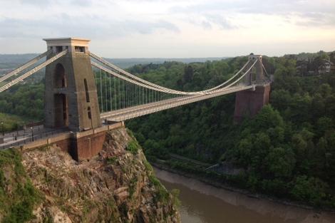 Imagen del puente Clifton, en Bristol.